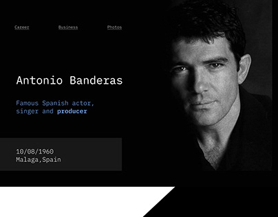 Landing page Biography/Antonio Banderas