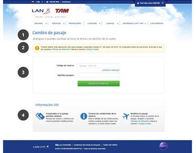 Aplicación Cambio de Pasaje - Latam Airlines