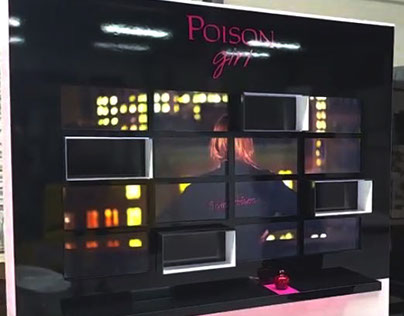 Tangible Display - Interactive retail - Dior perfume