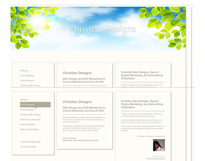 Christian Designs, web design and web content writing