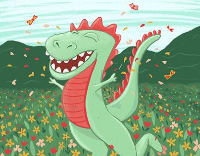 Illustration d'un dinosaure