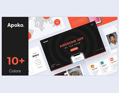 Apoko - Software & App Landing Page Template