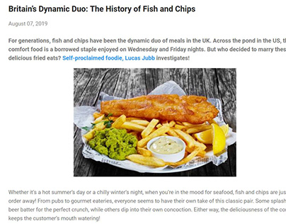 The History of Fish and Chips (blog post)
