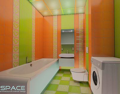 FRESH BATHROOM.Project three bedroom apartments.