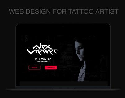 Web Design for Tattoo Artist