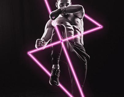 Neon Light Portrait