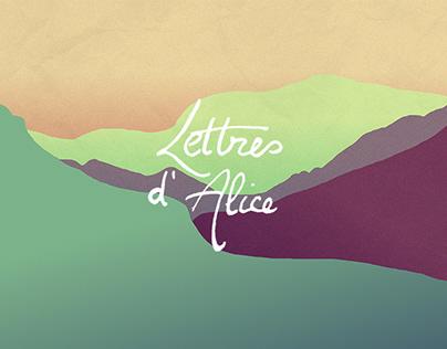 web development & Illustration - Les Lettres d'Alice