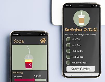 Mobile App for ordering Drinks