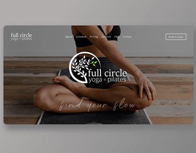 Yoga+Pilates Studio Website: Full Circle Williamsburg