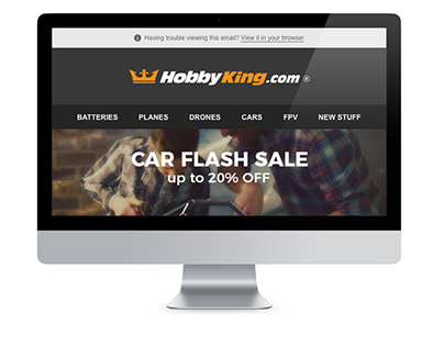 Car Flash Sale Electronic Direct Mail Design
