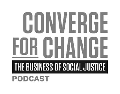 Converge For Change Podcast Website UI Design