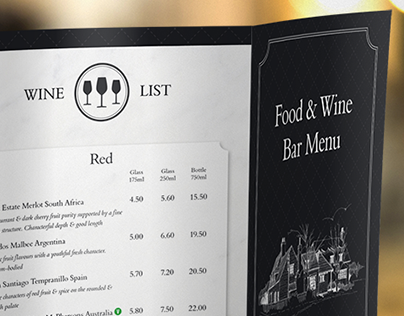 Angel Inn Food & Wine Bar Menu