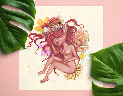 Litha fairy - illustration
