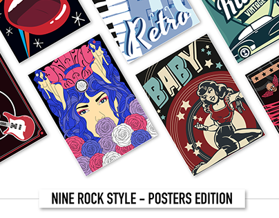 NINE ROCK STYLE - POSTERS EDITION