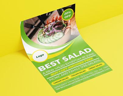 Best Salad Flyer