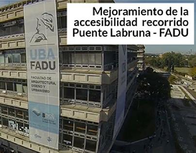 Mejoramiento de la accesibilidad FADU Buenos Aires