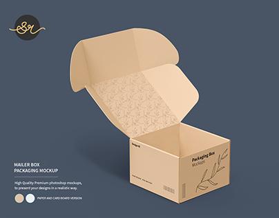 Mailer Box Packaging Mockup