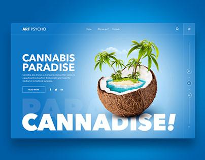 Web Design Inspiration - Cannadise