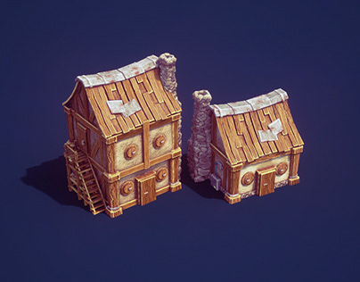 3d Low Poly Game Buildings   Low Poly City Builder