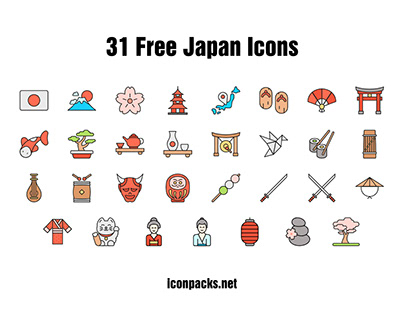 31 Free Japan SVG, PNG Icons