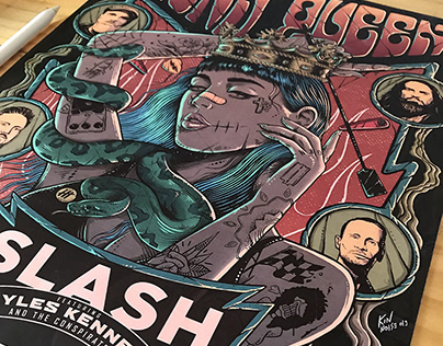 Poster PornQueen And Slash Gig - Luxembourg