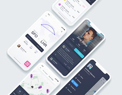 Car hire App - UI/UX design