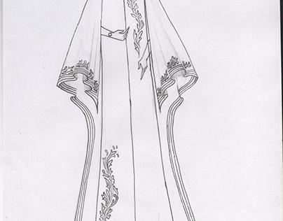 Abaya sketches