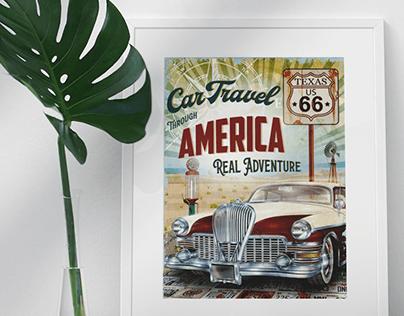 Retro Poster & Promotional Print