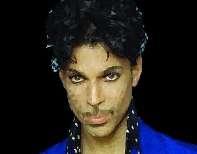 Polygonal Portrait of Prince
