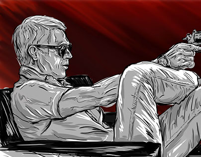 Steve McQueen Illustration