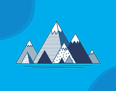 Geometric Mountainscape