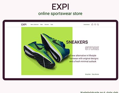 EXPI online sportswear store