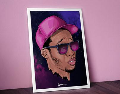 Denzel head Artwork {adobe draw}
