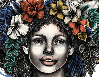 Tropical Queen Poster