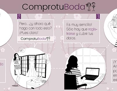 Infografía e ilustraciones para la web comprotuboda.com