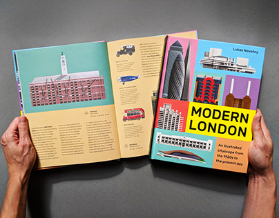 London architecture illustrated book - Modern London