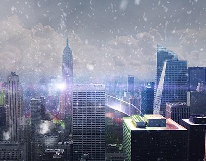 3D City Projection Experiment