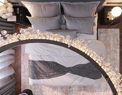monochrome bedroom modern classic