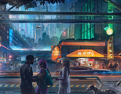 THE NIGHT CITY| CONCEPT ART PROCESS VIDEO