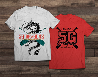 5G Dragons T-shirt Designs