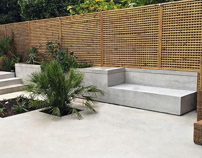 Polished concrete garden furniture - Richmond