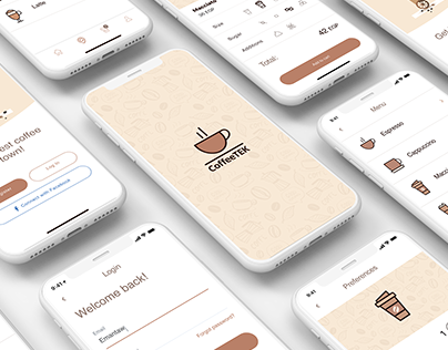 Mobile UI design - Coffee App