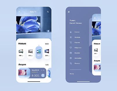 App Design for Online TV Sales