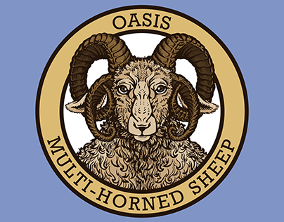 Logo and T-shirt Design: Oasis Multi-Horned Sheep