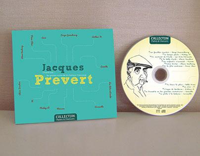 L&F Identité visuelle Jacket CD Jacques Prévert