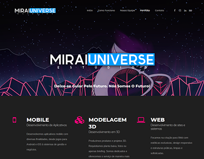 Mirai Universe - WebSite Design