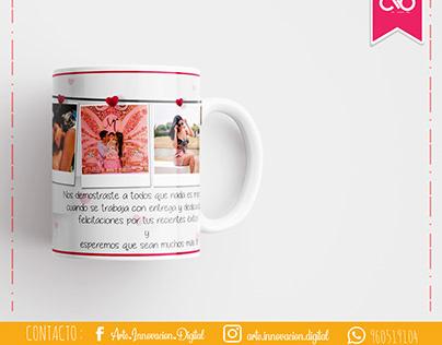 Diseño collage para taza personalizada