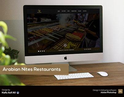 Website Design for Arabian Nites Restaurants