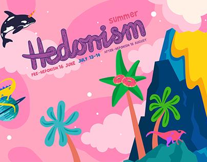 Hedonism festival '18 identity