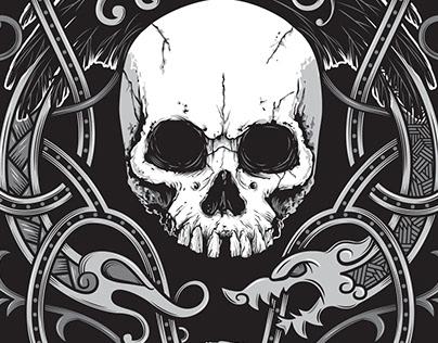 Official Moonsorrow Skull Knot T-Shirt Design